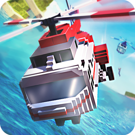 Mr. Blocky Police Helicopter Cops (game)