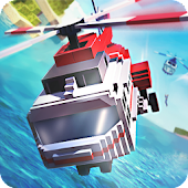 Mr. Blocky Police Helicopter Cops