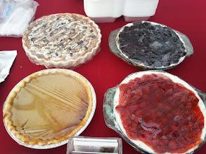 Photo: Apple Crisp, Blueberry Delight, Pumpkin Pie, Cherry Delight
