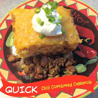 Quick Chili Cowboy Cornbread Casserole