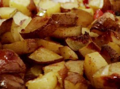 Fried Potatoes & Peppers Recipe
