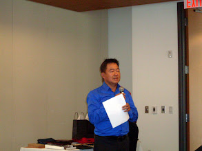 Photo: Michael Khaw (RVC MP) stood to announce Membership Promotion Awards