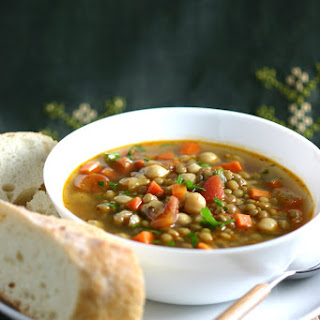 Middle Eastern Green Lentil Soup