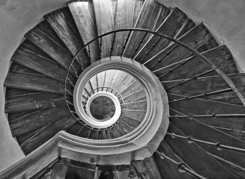 la scala del castello di Patrix