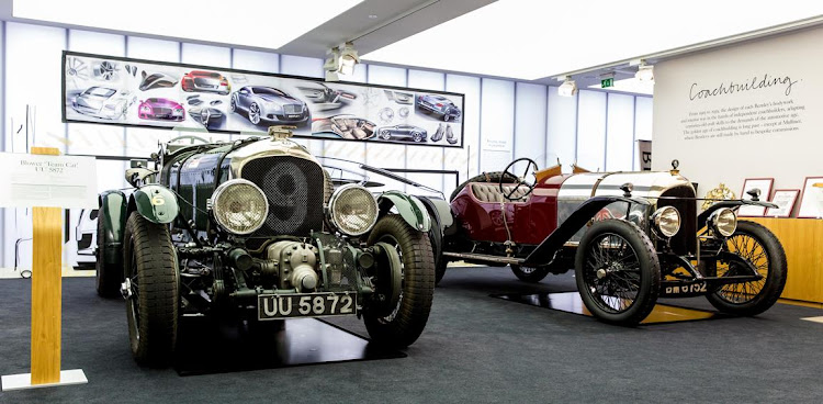 Bentley is a brand with some serious history. Vintage models at the HQ in Crewe, England. Picture: BENTLEY/NICK ENGLAND
