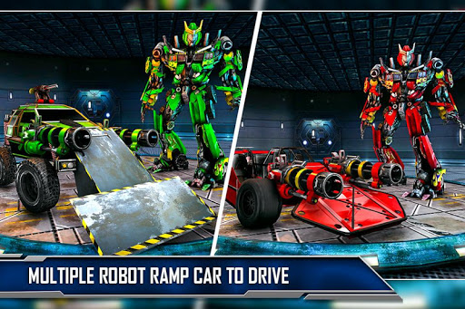 Ramp Car Robot Transforming Game: Robot Car Games screenshots 3