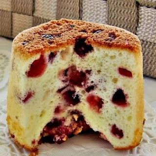 Cranberry Yogurt Chiffon Cake