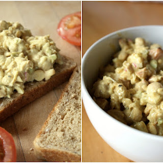 Tangy Vegan Curried Chickpea Salad.