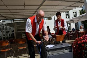 Photo: Vorbereitungsarbeiten von Lotti und Peter Schaffner