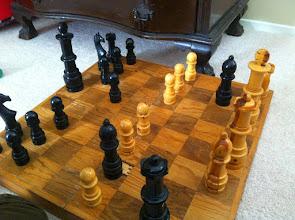Photo: Clark Plays Chess