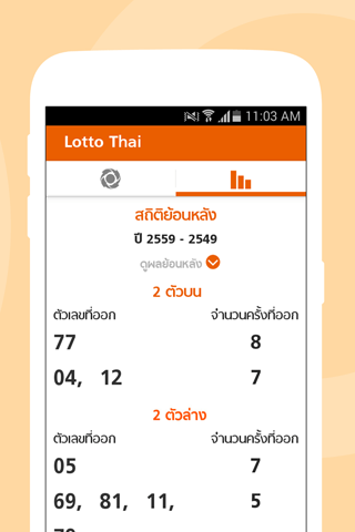 Lotto Thai (ตรวจผลสลาก) 2.3.4 screenshots 4