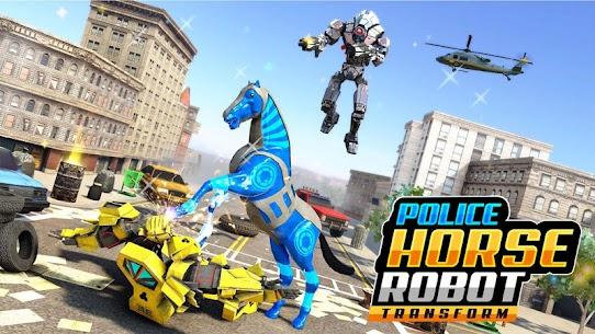 US Police Horse Robot Car Transform Robot Games 1