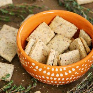 Gluten-Free Vegan Thyme and Garlic Crackers (Vegan, Gluten-Free, Grain-Free, Flourless, Dairy-Free, Egg-Free, Paleo-Friendly) Recipe