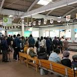 it can get very busy at Yumoto-Hakone station, especially during high season in Hakone in Hakone, Kanagawa, Japan