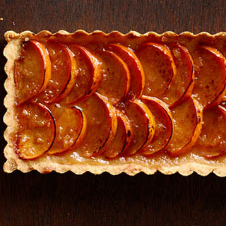 Spiced Persimmon Tart with Brandy Mascarpone.