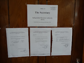 Photo: Notices at the Office of Secretary, IEA