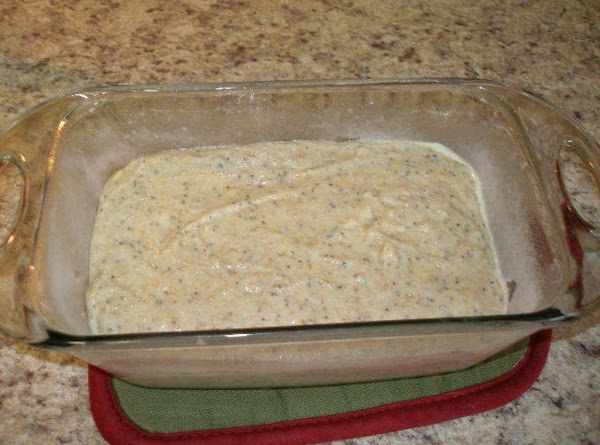 "Preheat oven to 350 degrees, spray a 5""X9"" loaf pan with cooking spray (I..."