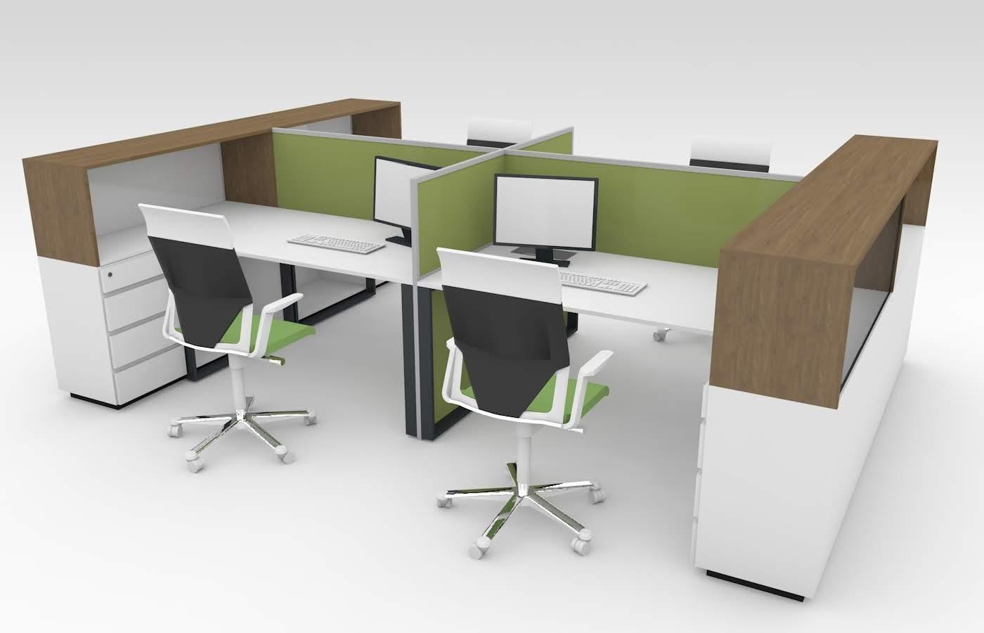 Рабочие станции для офисов заказать с бесплатным дизайном в Киеве