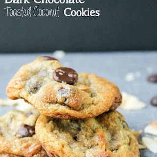 Dark Chocolate Toasted Coconut Cookies
