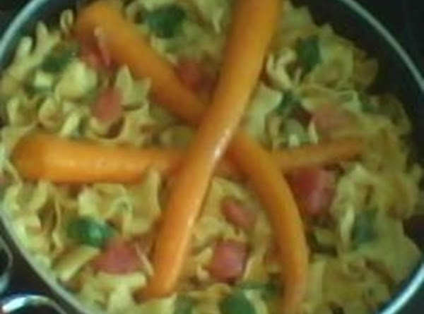 Cheesy Pasta With Spinach And Roasted Carrots Recipe