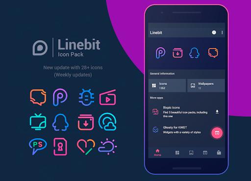 Linebit - Icon Pack  screenshots 1