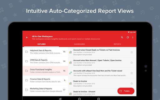 Zoho Analytics – Mobile BI Dashboards screenshot 12