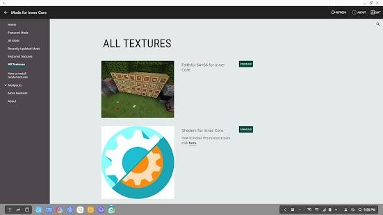 Mods for Inner Core - PRO Screenshot