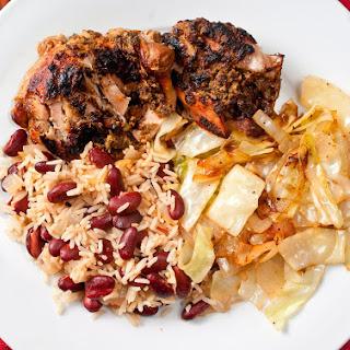 Slowcooker Jerk Chicken Dinner