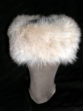 Photo: <KAPELUXE> Unique-Chique Hats by Luba Bilash ART & ADORNMENT  Blue-grey wool felt base, fox fur, 360 degree possibilities. Can also be worn on an angle. Size M - 54 cm/21 in $85