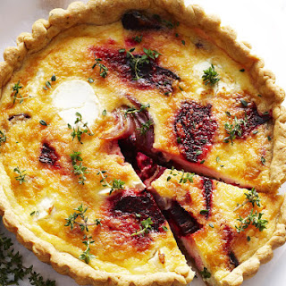 Beet and Goat Cheese Quiche