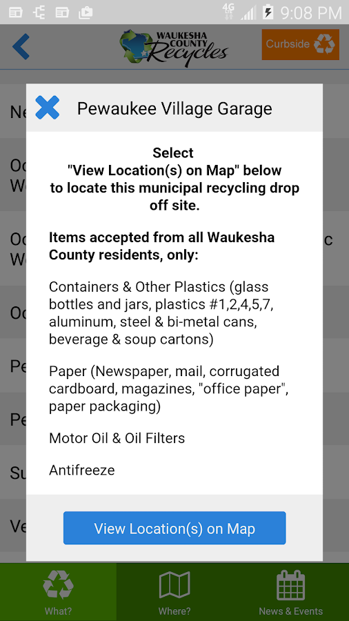 Waukesha County Recycles- screenshot