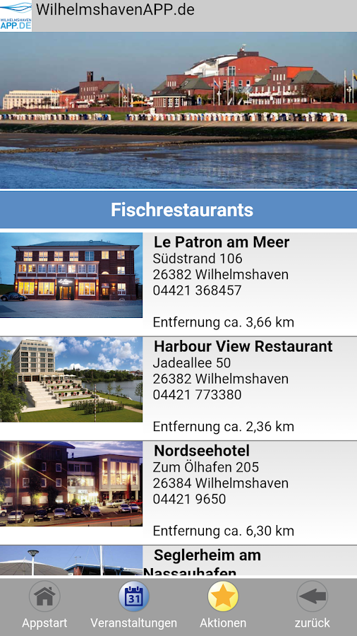 WilhelmshavenAPP.de – Screenshot