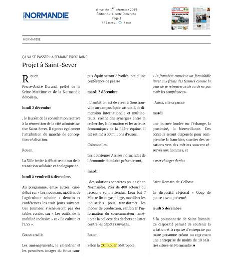 LIBERTE DIMANCHE GROUPE PARIS NORMANDIE