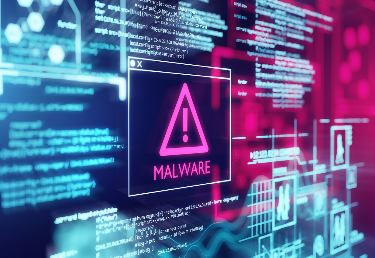 A computer screen with a malware notification. One of the biggest computer virus myths is that these malicious softwares are viruses, but actually they're malware.