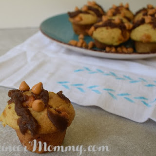 Butterscotch Muffins with Sticky Brown Sugar Caramel Glaze