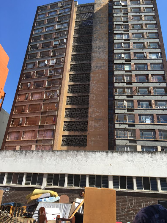 Tenants were evicted from 21 flats in Madiba House in central Durban on Tuesday after an ongoing issue regarding unpaid rent.