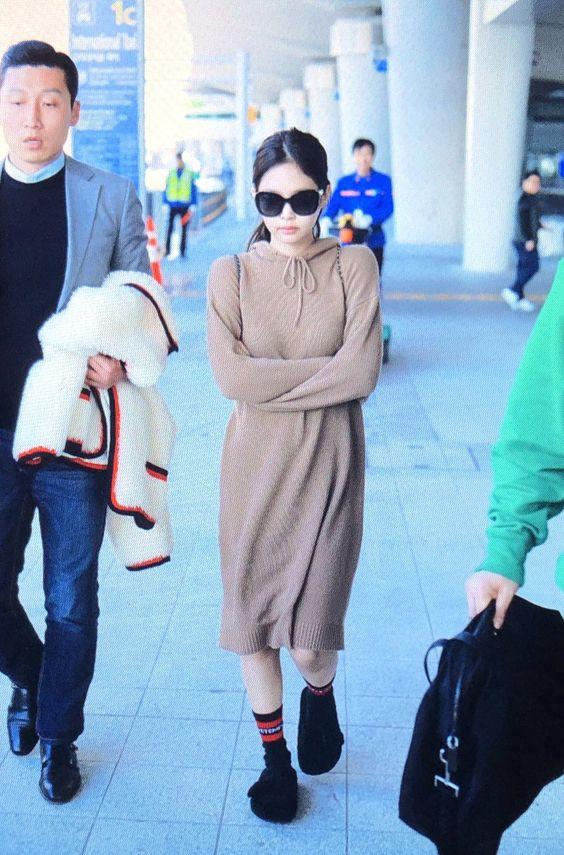 jennie long sweater dress