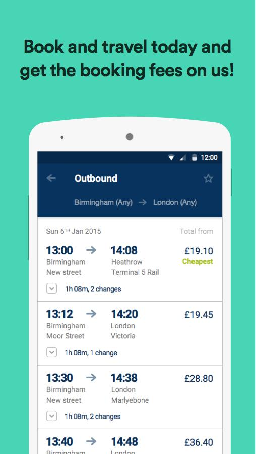 thetrainline – times & tickets- screenshot