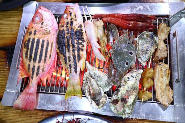 海世界碳烤|火鍋現流海產生蠔胭脂蝦時魚燒烤秘訣大公開