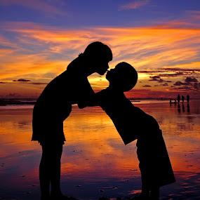 Sunset Kiss by Annemarie Rulos  - Babies & Children Children Candids (  )