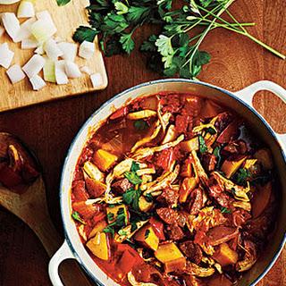 Chicken and Chorizo Stew.