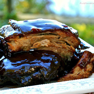Chocolate Cherry Coke Barbecued Baby Back Ribs / #Choctoberfest 2016