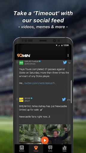 90min - Live Soccer News App  5