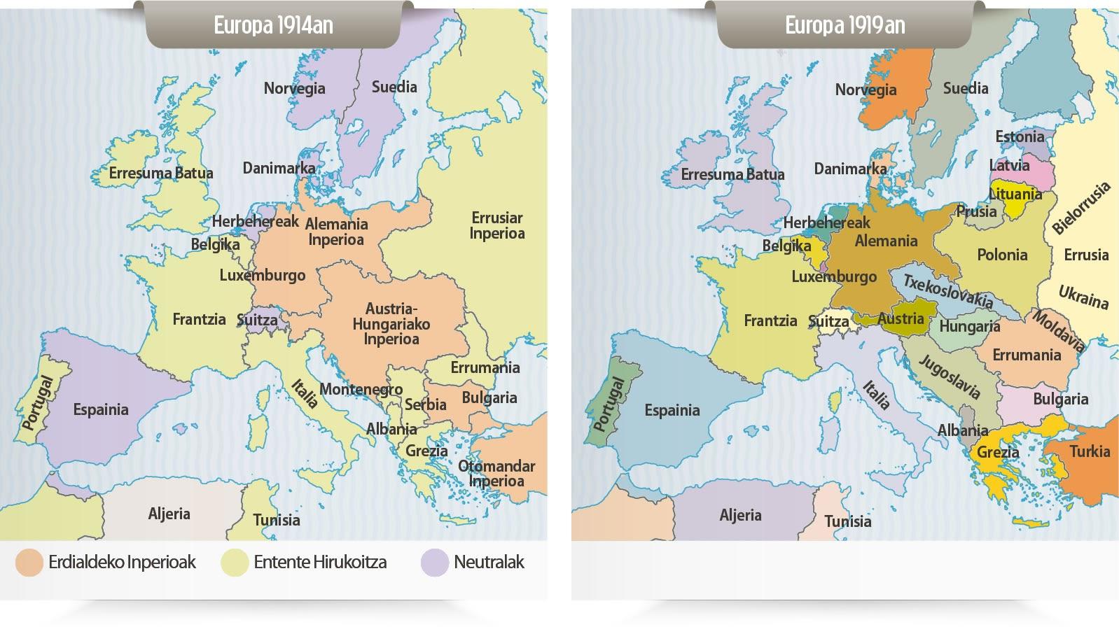 Humoristische Karte Von Europa 1914.Europa 1914