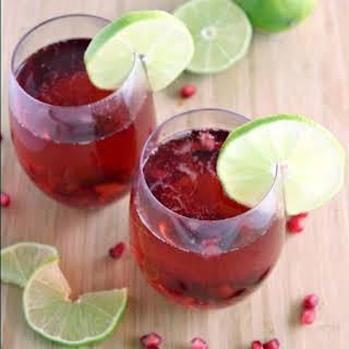 Pomegranate Lime Spritzer (Non-Alcoholic).