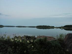 Photo: Utsikt från Erkki och Minnas ö. OBS klockan är kvart i 11 på kvällen.