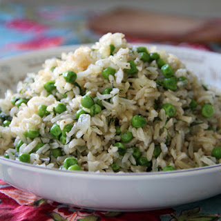 Brown Rice Pilaf with Peas and Dill.