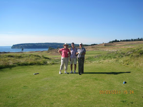 Photo: Linda, Vicky, Jane at Chambers Bay Golf Course in University Place, WA (near Tacoma)