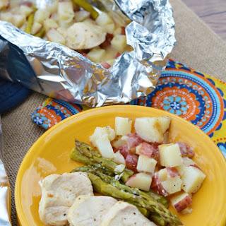 Grilled Chicken Asparagus Potato Pocket