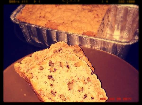 Banana Nut Streusel Bread